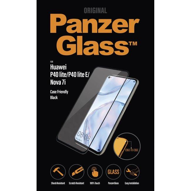 Ochranné temperované sklo PanzerGlass Case Friendly pre Huawei P40 Lite/P40 Lite E/Nova 7i, čierne