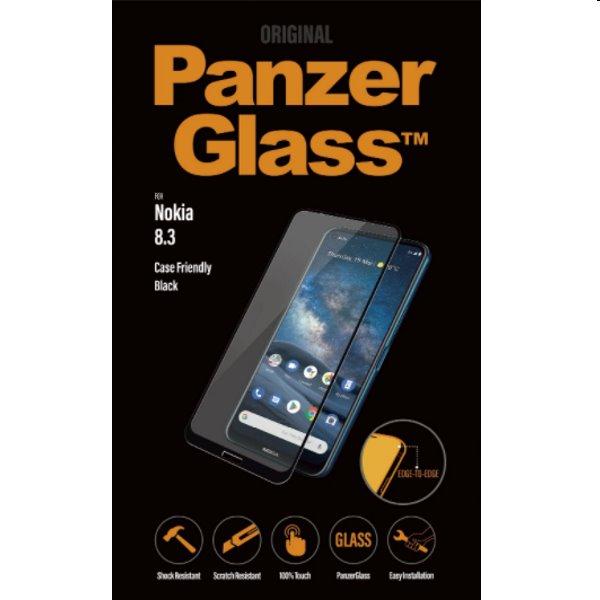 Ochranné temperované sklo PanzerGlass Case Friendly pre Nokia 8.3, čierne 6778