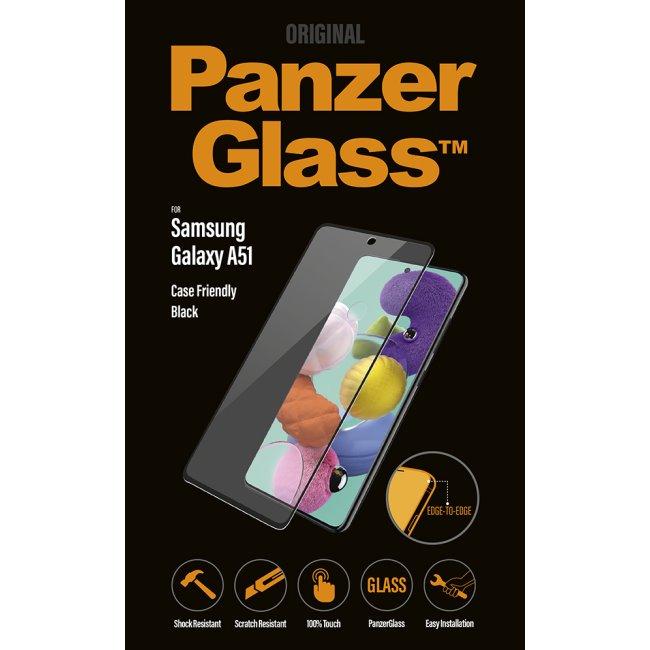 Ochranné temperované sklo PanzerGlass Case Friendly pre Samsung Galaxy A51 - A515F, black
