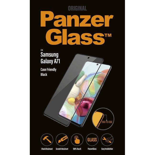 Ochranné temperované sklo PanzerGlass Case Friendly pre Samsung Galaxy A71 - A715F, black