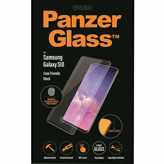 Ochranné temperované sklo PanzerGlass Case Friendly pre Samsung Galaxy S10 - G973F, čierne