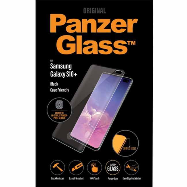 Ochranné temperované sklo PanzerGlass Case Friendly pre Samsung Galaxy S10+ - G975F, Fingerprint komp., čierne