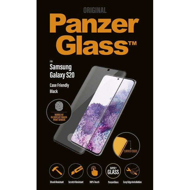Ochranné temperované sklo PanzerGlass Case Friendly pre Samsung Galaxy S20 Plus - G985F, Fingerprint komp., black