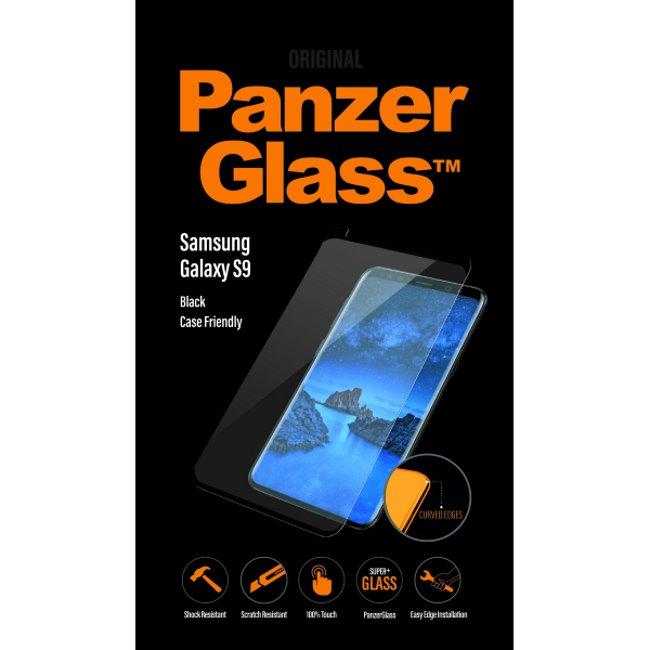 Ochranné temperované sklo PanzerGlass Case Friendly pre Samsung Galaxy S9 - G960F, čierne