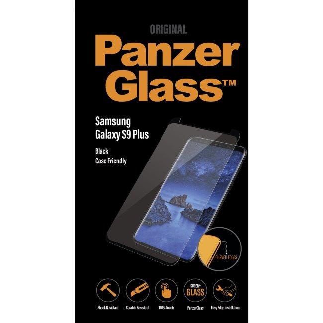 Ochranné temperované sklo PanzerGlass Case Friendly pre Samsung Galaxy S9 Plus - G965F, čierne