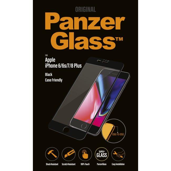 Ochranné temperované sklo PanzerGlass na celý displej pre Apple iPhone 6 Plus/ 6S Plus/ 7 Plus/ 8 Plus, čierne 2619