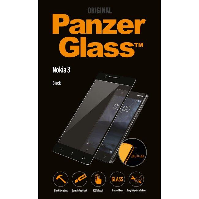 Ochranné temperované sklo PanzerGlass na celý displej pre Nokia 3, čierne 6755