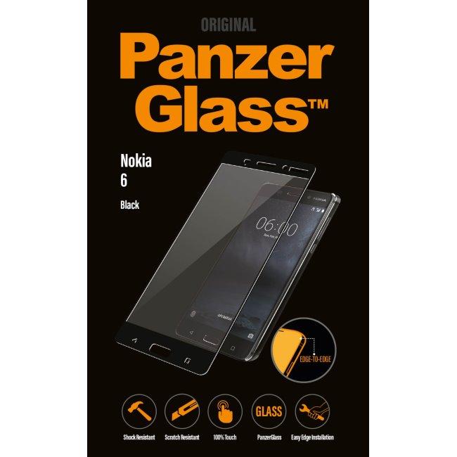 Ochranné temperované sklo PanzerGlass na celý displej pre Nokia 6, čierne 6754