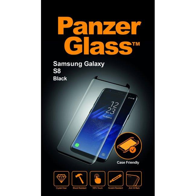 Ochranné temperované sklo PanzerGlass na celý displej pre Samsung Galaxy S8 - G950F, čierne