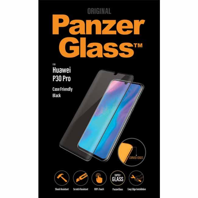 Ochranné temperované sklo PanzerGlass Case Friendly pre Huawei P30 Pro, čierne