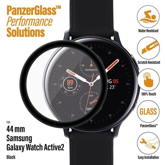 Ochranné temperované sklo PanzerGlass pre Samsung Galaxy Watch Active 2 44mm, black