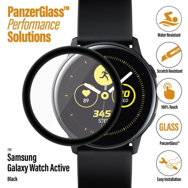 Ochranné temperované sklo PanzerGlass pre Samsung Galaxy Watch Active, black