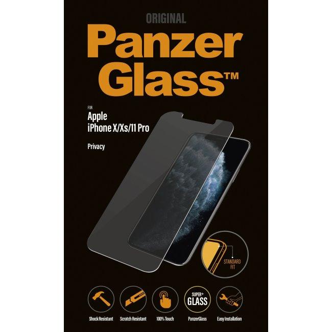 Ochranné temperované sklo PanzerGlass s privátnym filtrom pre Apple iPhone 11 Pro/Xs/X