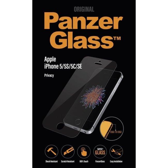 Ochranné temperované sklo PanzerGlass s privátnym filtrom pre Apple iPhone 5/ 5S/ 5C/ SE P1010