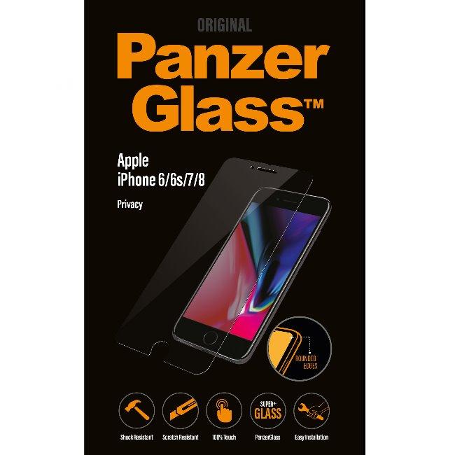 Ochranné temperované sklo PanzerGlass s privátnym filtrom pre Apple iPhone 6/ 6S/ 7/ 8