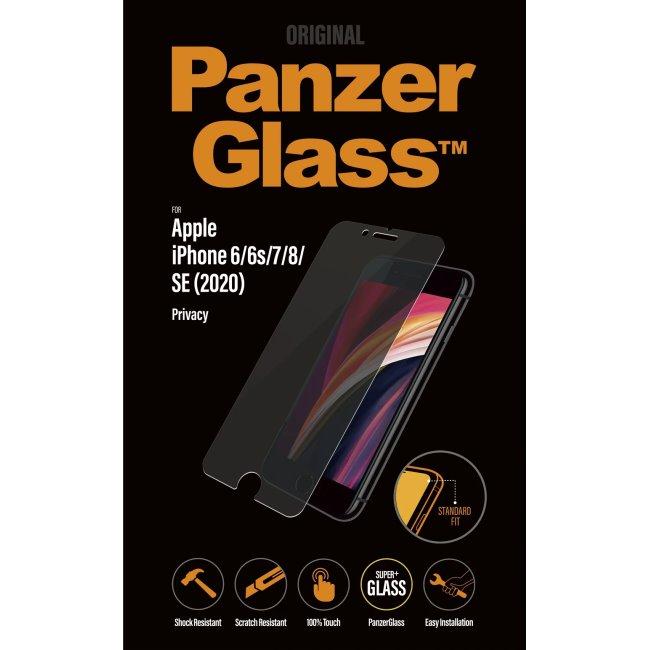 Ochranné temperované sklo PanzerGlass s privátnym filtrom pre Apple iPhone 6/6s/7/8/SE 2020, clear P2684