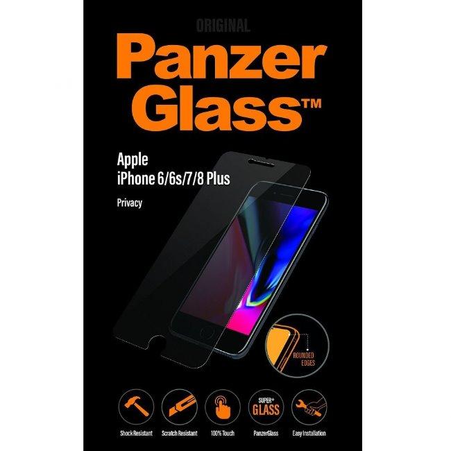 Ochranné temperované sklo PanzerGlass s privátnym filtrom pre Apple iPhone 6 Plus/ 6S Plus/ 7 Plus/ 8 Plus P2629