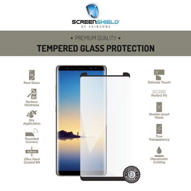 Ochranné temperované sklo Screenshield 3D Case Friendly pre Samsung Galaxy Note 8 - N950F, Black - Doživotná záruka SAM-TG3DBCFN950-D