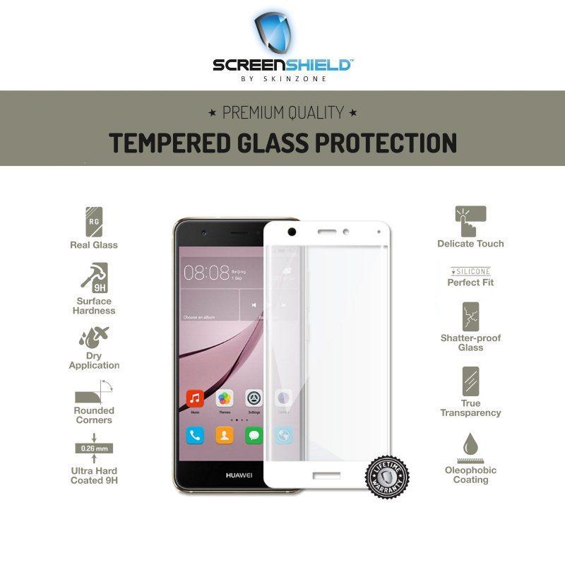 Ochranné temperované sklo Screenshield 3D pre Huawei Nova, White - Doživotná záruka