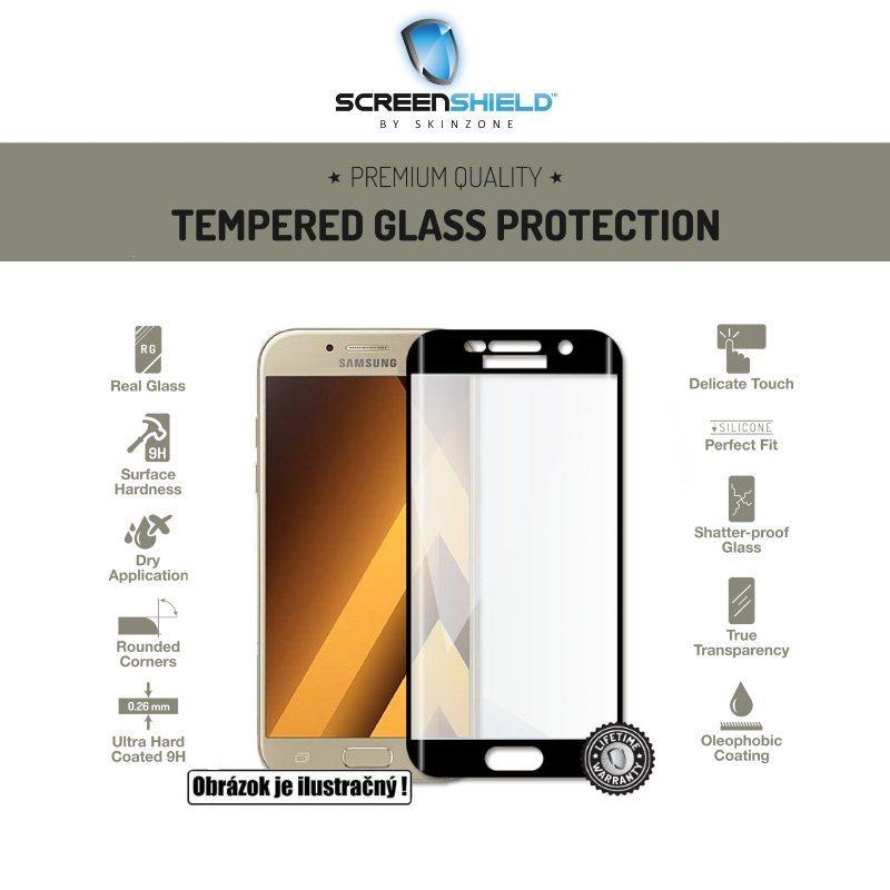 Ochranné temperované sklo Screenshield 3D pre Samsung Galaxy A5 2016 - A510F, Black- Doživotná záruka