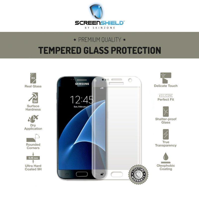 Ochranné temperované sklo Screenshield 3D pre Samsung Galaxy S7 Edge - G935F, Transparent - Doživotná záruka SAM-TGTG935-D