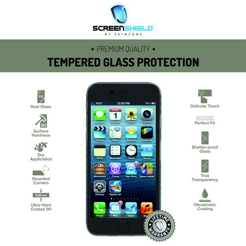 Ochranné temperované sklo ScreenShield pre Apple iPhone 6, Apple iPhone 6S - Doživotná záruka
