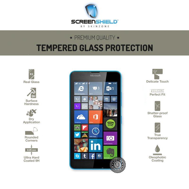 Ochranné temperované sklo ScreenShield pre Microsoft Lumia 640 - Doživotná záruka MIC-TGL640-D