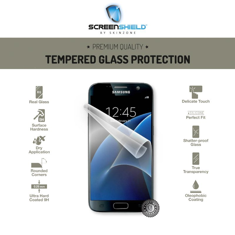 Ochranné temperované sklo ScreenShield pre Samsung Galaxy S7 - G930F - Doživotná záruka SAM-TGGALS7-D