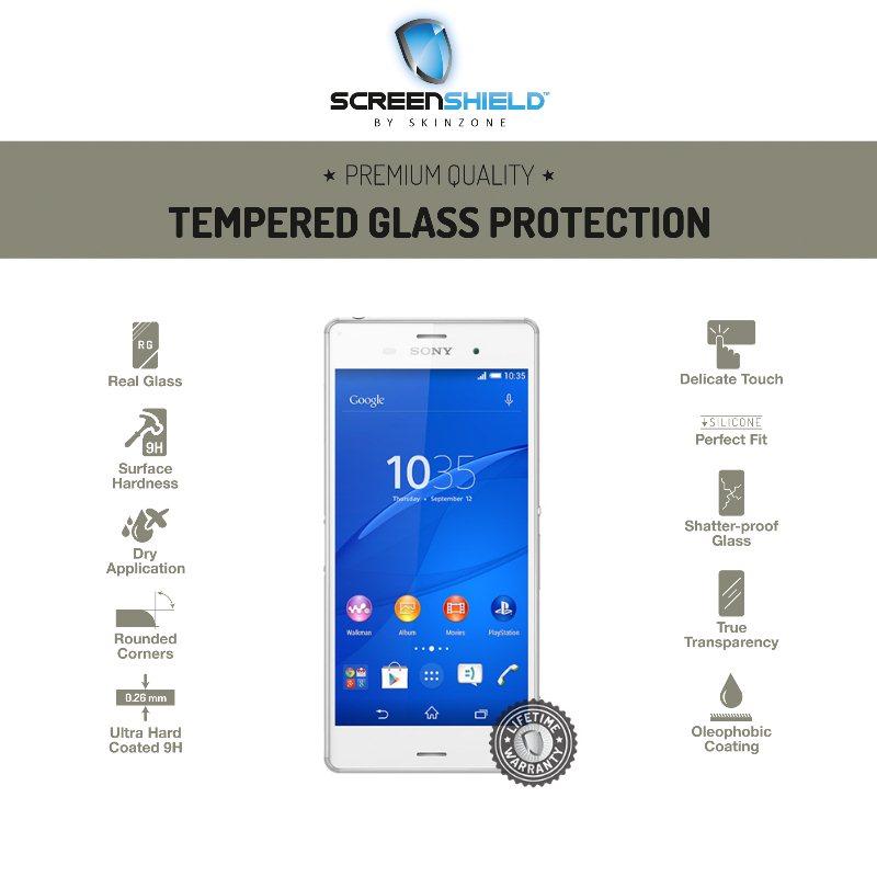 Ochranné temperované sklo ScreenShield pre Sony Xperia Z3+ - E6553 - Doživotná záruka