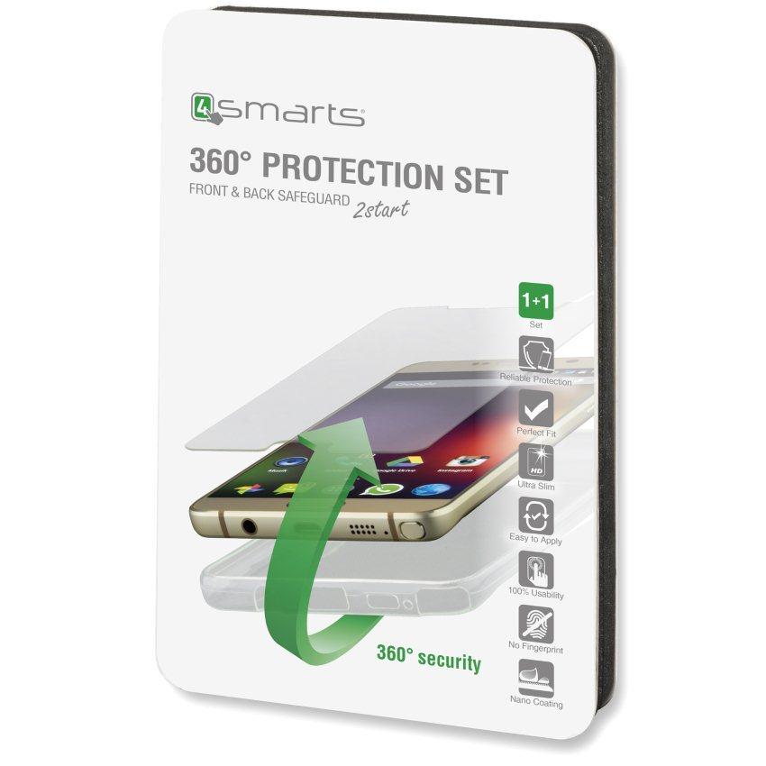 Ochranné temperované sklo + Silikónové púzdro 4Smarts pre Huawei Y5II