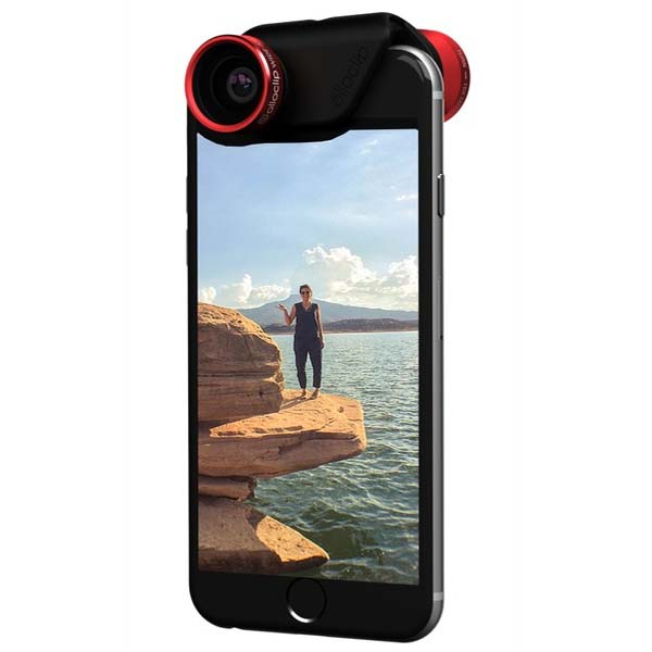 Olloclip 4in1 Lens System + 2 clear cases pre Apple iPhone 6/6S a Apple iPhone 6/6S Plus, Red/Black