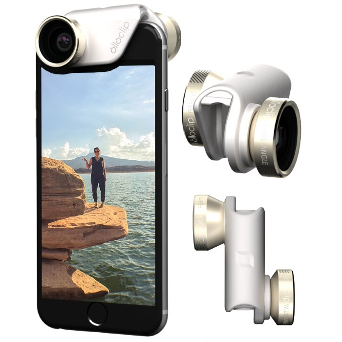 Olloclip 4in1 Lens System pre Apple iPhone 6/6S a Apple iPhone 6 Plus, GoldWhite