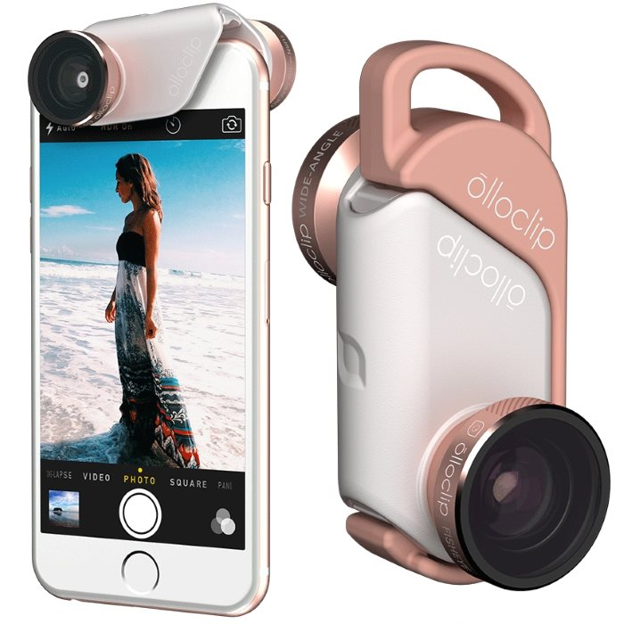 Olloclip 4in1 Lens System pre Apple iPhone 6/6S a Apple iPhone 6 Plus, Rose GoldWhite