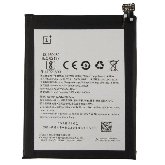 Originálna batéria pre OnePlus 3, (3300 mAh) BLP613