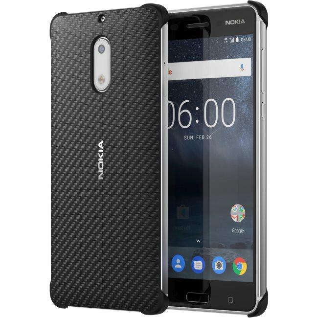 Originálne puzdro Nokia Carbon Fibre CC-802 pre Nokia 6, Black 1A21M9800VA