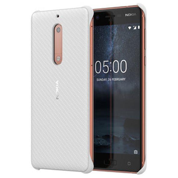 Originálne puzdro Nokia Carbon Fibre CC-803 pre Nokia 5, Pearl White 1A21M1D00VA