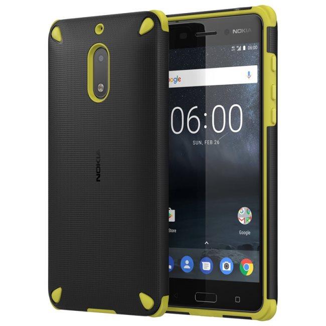 Originálne puzdro Nokia Rugged Impact CC-501 pre Nokia 6, Lemon Black 8596311006968