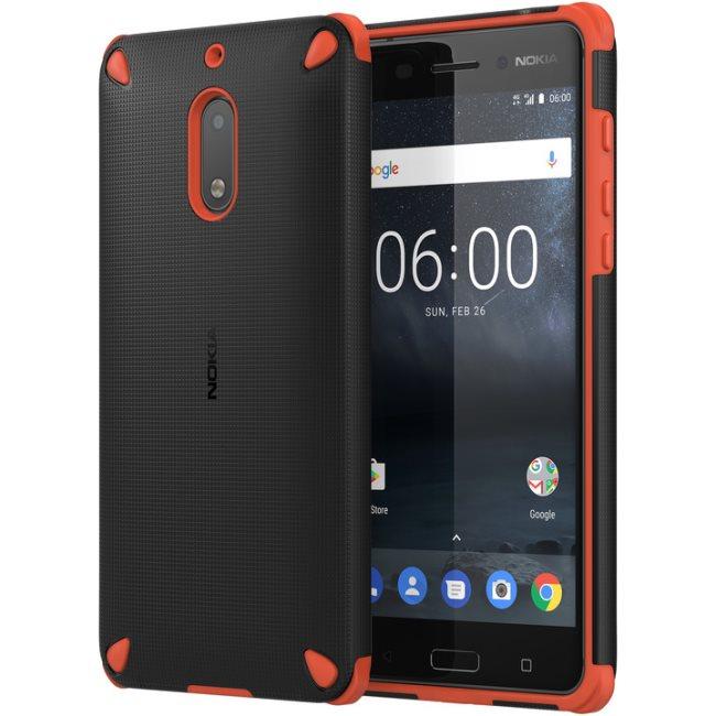 Originálne puzdro Nokia Rugged Impact CC-501 pre Nokia 6, Orange Black 1A21MKV00VA
