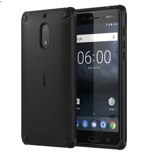 Originálne puzdro Nokia Rugged Impact CC-501 pre Nokia 6, Pitch Black 1A21M9200VA