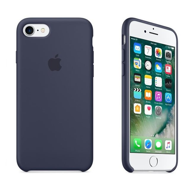 Apple iPhone 8 / 7 Silicone Case Midnight Blue , midnight blue