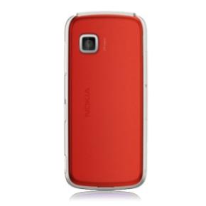 Originálny zadný kryt (kryt batérie) pre mobil Nokia 5230 | Červený + Stylus