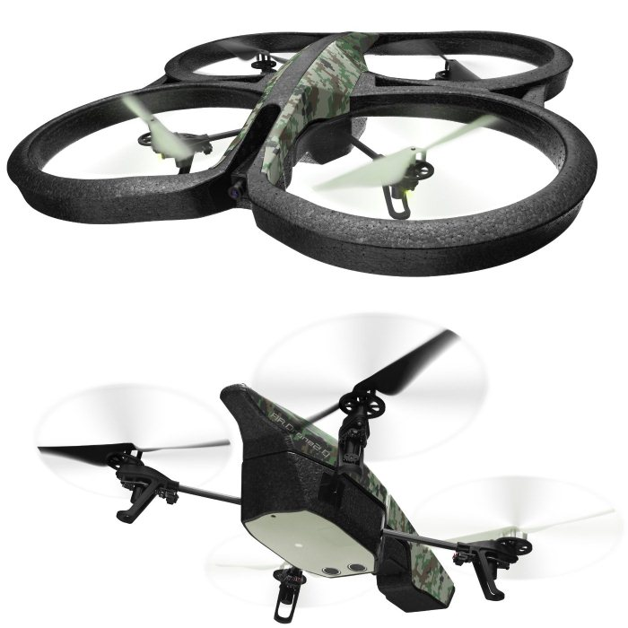 Parrot AR.Drone 2.0 Elite Edition Jungle - kvadrikoptéra s HD kamerou