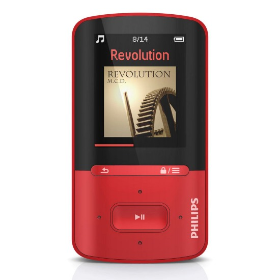Philips SA4VBE04RF/12 4GB + FM, MP3/MP4 prehr�va�, Red