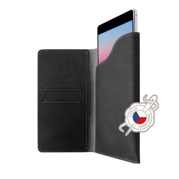 pocekthnedeFIXED Kožené puzdro Pocket Book pre Apple iPhone 6/6S/7/8, sivé FIXPOB-100-GR
