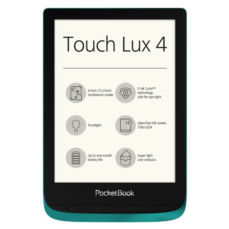 Pocketbook 627 Touch Lux 4, modrý