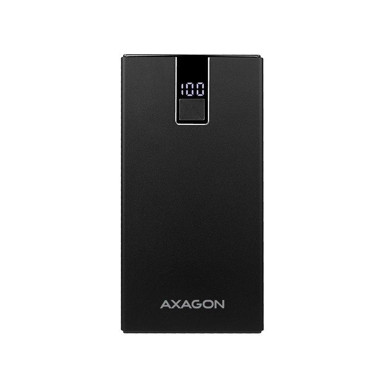 Powerbank AXAGON PWB-L10QD QuickCharge 3.0 hliníková - 10000 mAh, Black PWB-L10QD