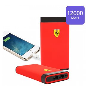 PowerBank Ferrari - 12 000 mAh, 2x USB, Black/Red