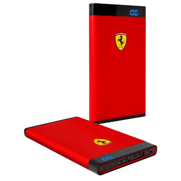 PowerBank Ferrari - 5 000 mAh, 2x USB, Black/Red