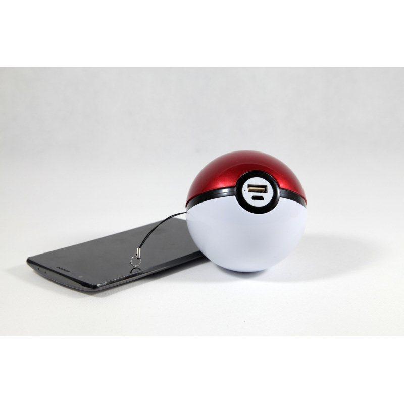 PowerBank Pokemon Ball - 10 000 mAh bielo-červená