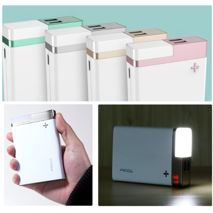 PowerBank REMAX Proda Crave - 12 000 mAh, Rose Gold